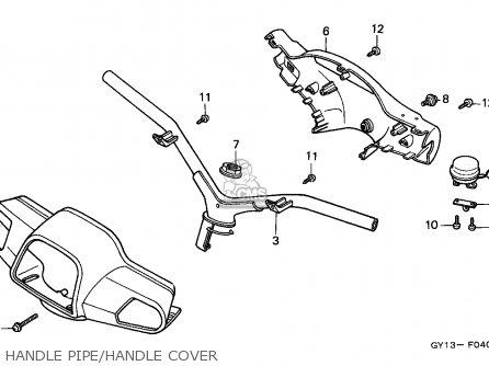 Honda Sa50 Vision 1993 (p) England parts list partsmanual