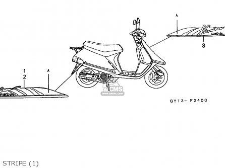 Honda Sa50 Vision 1994 (r) Belgium Cmf parts list