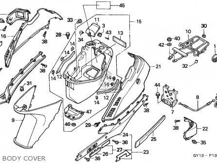Honda Sa50 Vision 1994 (r) England parts list partsmanual