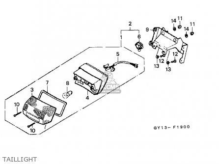 Honda Sa50 Vision 1994 (r) England parts list partsmanual partsfiche