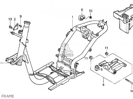 Honda SA50P ELITE 50 1995 (S) USA parts lists and schematics