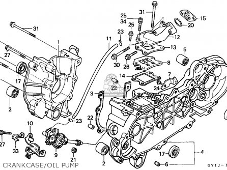 Honda Sa50s Vision 1988 (j) Belgium parts list partsmanual