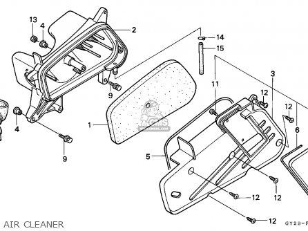 Honda Sa75 Vision 1991 (m) Belgium parts list partsmanual