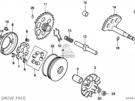 Honda Sa75 Vision 1991 (m) Spain parts list partsmanual