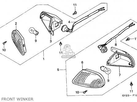 Honda SA75 VISION 1993 (P) SPAIN parts lists and schematics