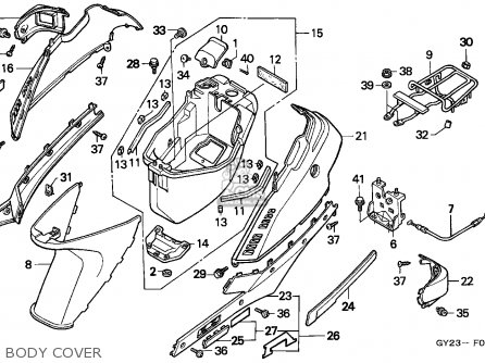 Honda Sa75 Vision 1993 Spain parts list partsmanual partsfiche