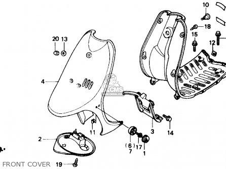 Honda SB50 ES ELITE E 1988 (J) USA parts lists and schematics