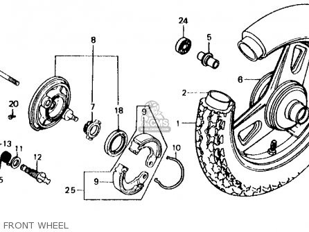 Honda Sb50p E 1989 (k) Usa parts list partsmanual partsfiche