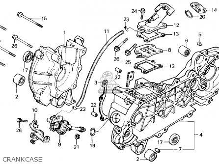 Honda Se50 50 S 1987 (h) Usa parts list partsmanual partsfiche
