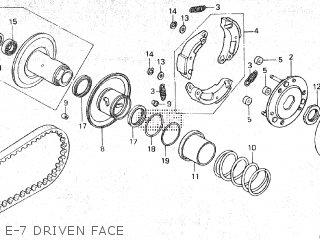 Honda SE50 ELITE 1987 (H) parts lists and schematics