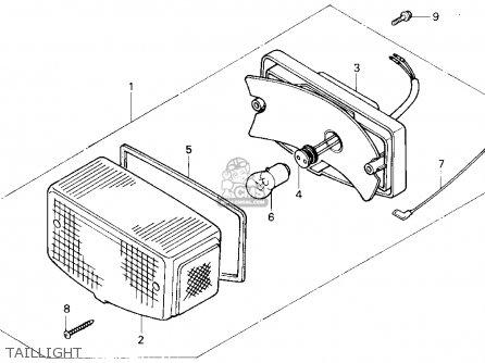Honda Se50p 50 1987 (h) Usa parts list partsmanual partsfiche