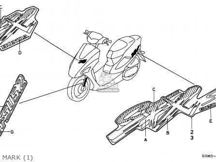 Honda Sfx50 1996 (t) Portugal parts list partsmanual