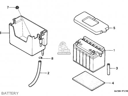 Honda Sh50 Scoopy 1993 (p) France Cmf Kph parts list