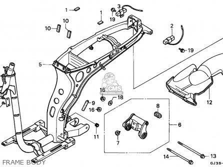 Honda Sh50 Scoopy 1993 (p) Italy Kph parts list
