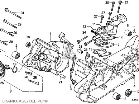 Honda Sh50 Scoopy 1995 England / Mkh parts list