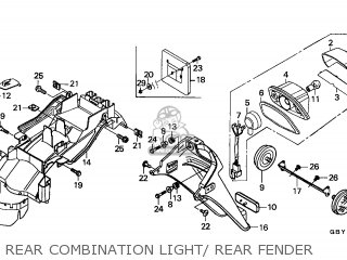 Honda Sh50 Scoopy 2001 (1) England Mkh parts list