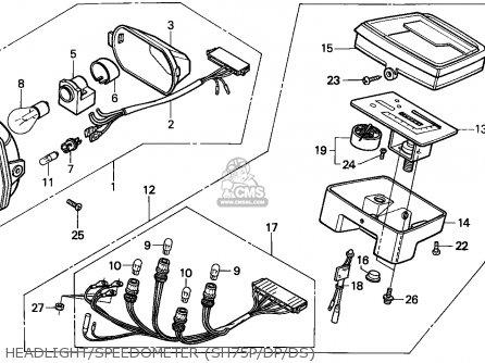 Honda Sh75 Scoopy 1995 Spain parts list partsmanual partsfiche