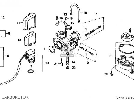 Honda Sj50 Bali 1995 England parts list partsmanual partsfiche