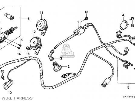 Honda Sj50 Bali 1995 (s) England parts list partsmanual