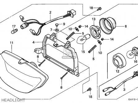 Honda Sj50 Bali 1995 (s) Germany parts list partsmanual