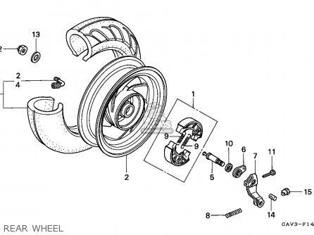 Honda SJ50 BALI 1995 (S) PORTUGAL parts lists and schematics