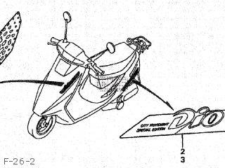 Honda SK50M DIO 1991 (M) JAPAN AF27-100 parts lists and