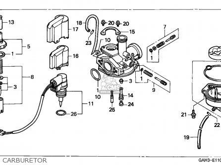 Honda Sk50m Dio 1992 Australia parts list partsmanual