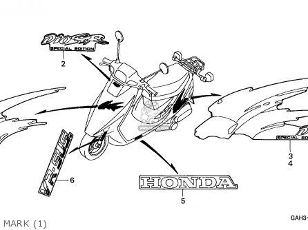 Honda Sk50m Dio 1992 Canada parts list partsmanual partsfiche