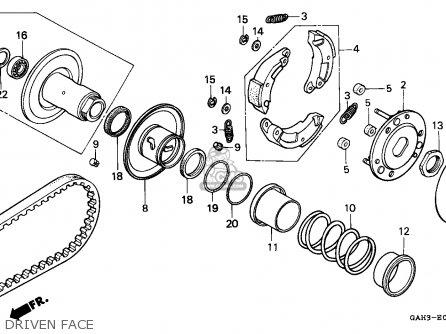 Honda Sk50m Dio 1992 (n) Canada parts list partsmanual