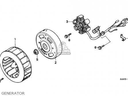 Honda SK50M DIO 1993 (P) CANADA parts lists and schematics