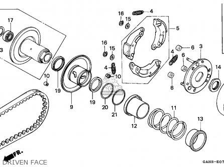 Honda Sk50m Dio 1993 (p) Spain parts list partsmanual