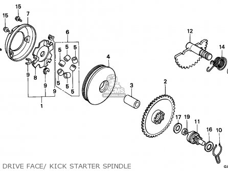 Honda Sk50m Dio 1994 (r) Canada parts list partsmanual