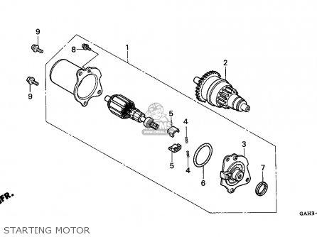 Honda SK50M DIO 1994 (R) CANADA parts lists and schematics