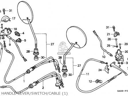 Honda SK50M DIO 1997 (V) CANADA parts lists and schematics