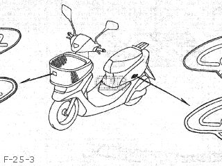 Honda SK50M DIO 1998 (W) JAPAN AF34-200/AF35-170 parts