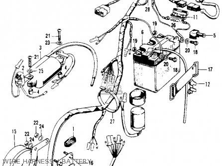 Honda Sl100 Motosport 100 K0 1970 Usa parts list