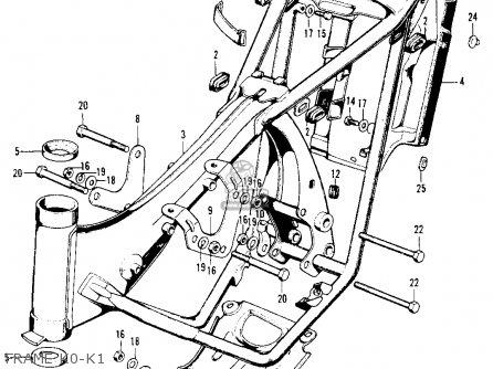Honda SL100 MOTOSPORT 1971 K1 USA parts lists and schematics