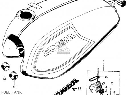 Honda Sl100 Motosport 1972 K2 Usa parts list partsmanual