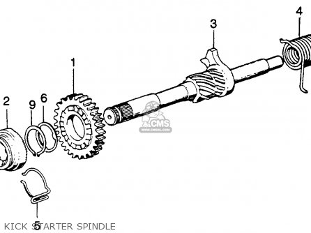 Honda Sl125 Motosport 125 K2 Usa parts list partsmanual