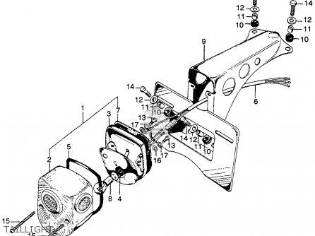 Honda Sl125 Motosport 1971 K0 Usa parts list partsmanual
