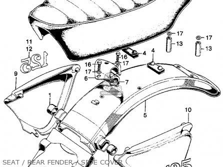 Honda SL125 MOTOSPORT 1972 K1 USA parts lists and schematics