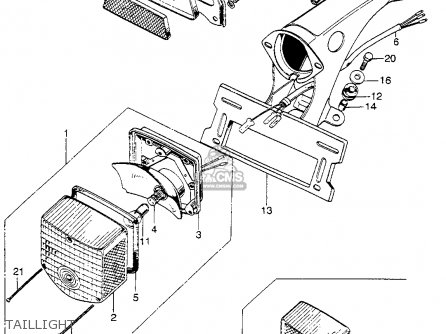 Honda Sl125 Motosport 1972 K1 Usa parts list partsmanual