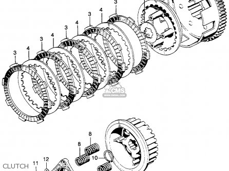 Honda Sl125 Motosport 1973 K2 Usa parts list partsmanual