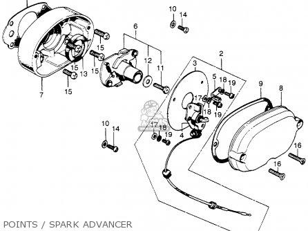 Honda Sl175 Motosport 175 K1 1971 Usa parts list