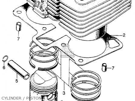 Honda Sl175 Motosport 1970 K0 Usa parts list partsmanual