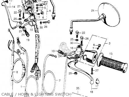 Honda Sl350 Motosport 1969 K0 Usa parts list partsmanual