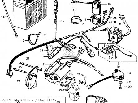 Honda SL350 MOTOSPORT 1969 K0 USA parts lists and schematics