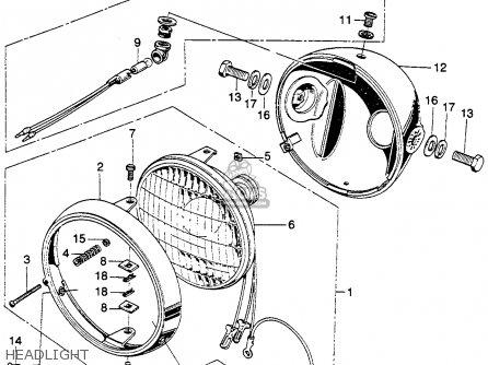 Honda SL350 MOTOSPORT 1970 K1 USA parts lists and schematics
