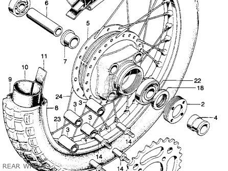 Honda Sl350 Motosport 1970 K1 Usa parts list partsmanual partsfiche