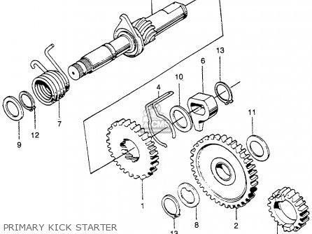 Honda Sl350 Motosport 1972 K2 Usa parts list partsmanual